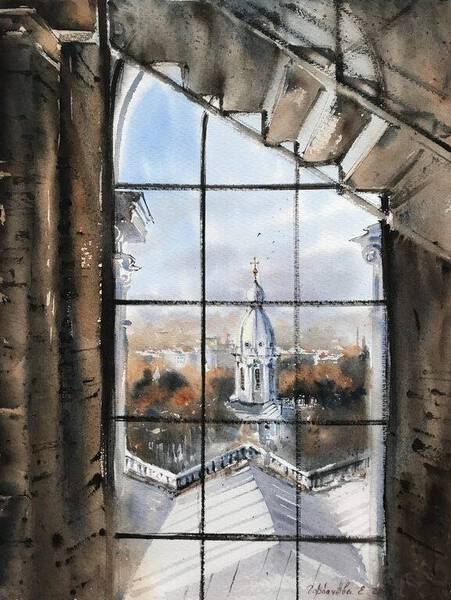 Window, The Smolny Cathedral, St.Peterburg