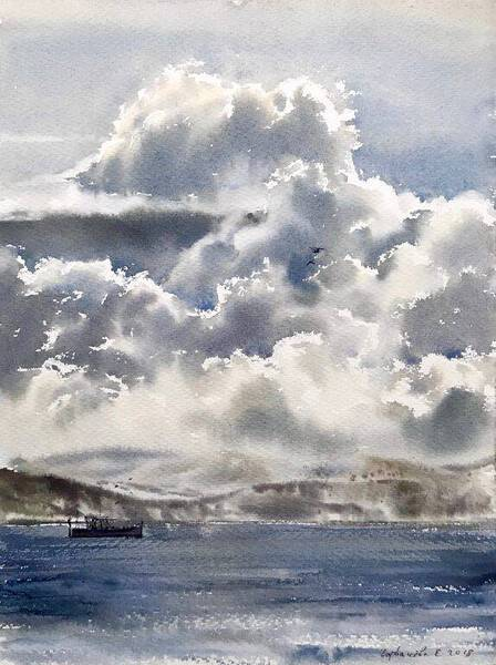 Coast and clouds
