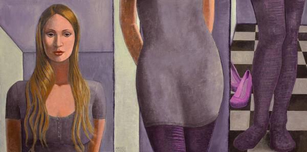 Tall Woman On Short Panel