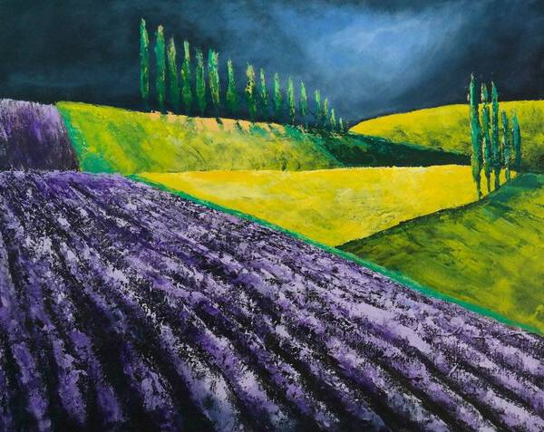 THE LAVENDER AND THE STORM - FIELDS AND COLORS SERIES