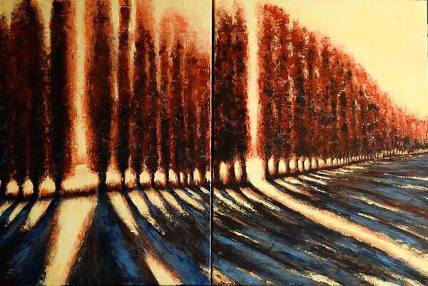 BRIGHT LINE - DIPTYCH - FIELDS AND COLORS SERIES