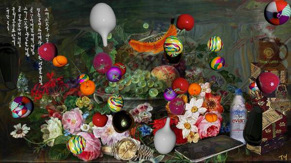 The flowers and fruits of those days, still life