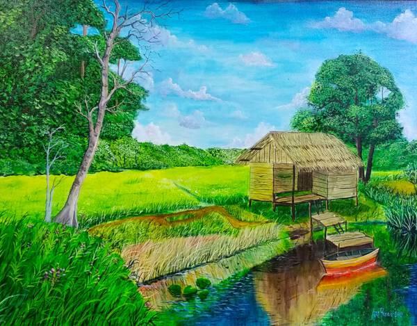landscape Pehumaan (sawah ladang berpindah)