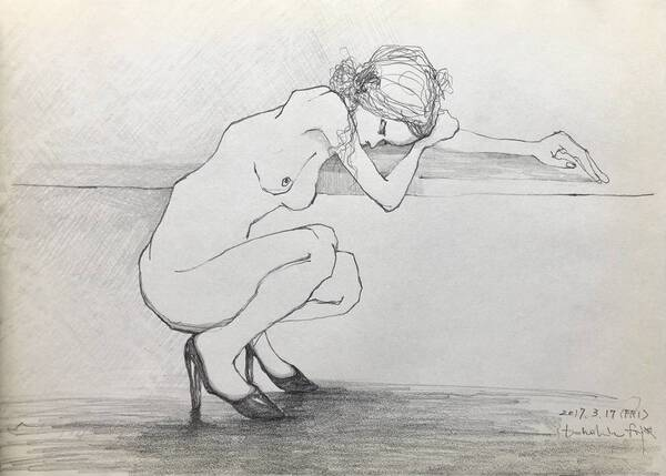 Naked Woman #4 -The Woman in High Heels