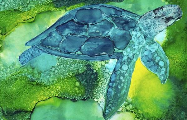Inquisitive Sea Turtle