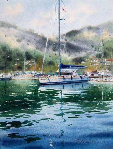 Moored yacht #3