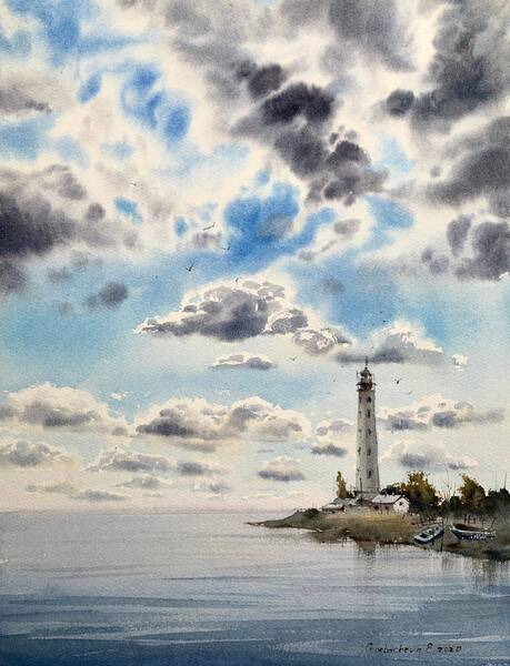 Lighthouse and Clouds #2